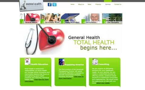 Screenshot of Services Page aunishealth.com - Aunis Health. Health care about you. - captured Dec. 27, 2015