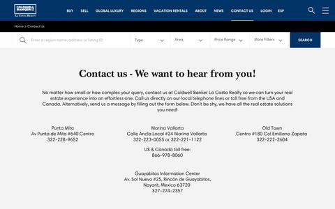 Screenshot of Contact Page cblacosta.com - Contact Us - Coldwell Banker La Costa - captured Sept. 28, 2018