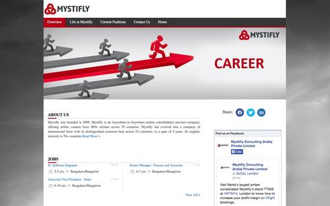 Screenshot of Jobs Page mystifly.com - Careers in Mystifly Consulting - Jobs in Mystifly Consulting - Current openings in Mystifly Consulting - captured Nov. 4, 2014