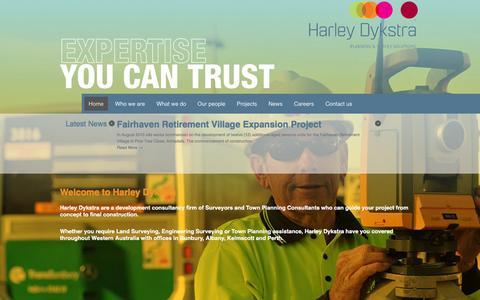 Screenshot of Home Page harleydykstra.com.au - Harley Dykstra   Town Planners   Surveyors - captured Jan. 26, 2016