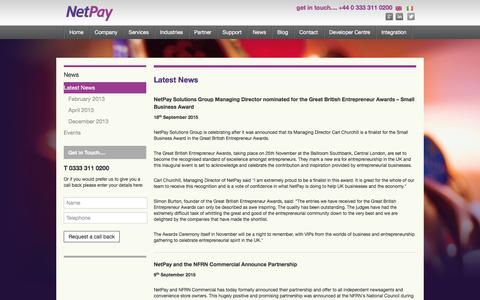 Screenshot of Press Page netpay.co.uk - NetPay – Wholesale, Reseller and Corporate card payment solutions - captured Feb. 17, 2016