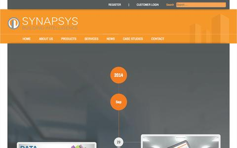 Screenshot of Press Page synapsys-solutions.com - Synapsys Solutions - News - captured Oct. 7, 2014
