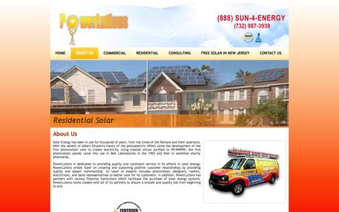 Screenshot of About Page powerlutions.com - New Jersey Solar Installers & Consulting | NY Solar Installers & Consultant Company - About Us - captured Sept. 26, 2014