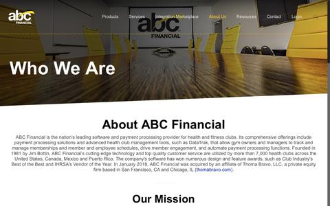 Screenshot of About Page abcfinancial.com - Our Leadership | Gym Management Software | ABC Financial - captured Sept. 23, 2018