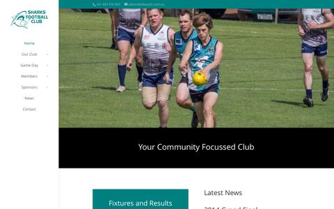 Screenshot of Home Page albanyfc.com.au - Albany Sharks Football & Sporting Club | Your Community Focussed Club - captured Sept. 27, 2015