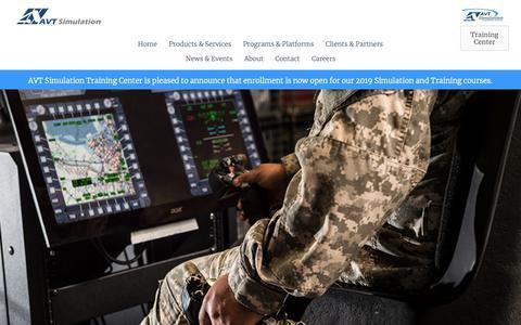 Screenshot of Home Page avtsim.com captured Nov. 25, 2018