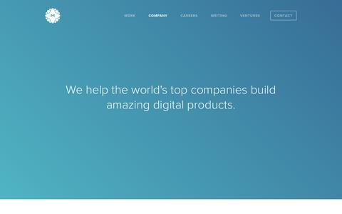 Screenshot of Services Page metalab.co - MetaLab - Company - captured Oct. 5, 2015