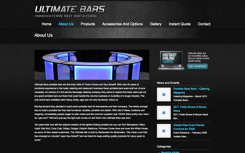 Screenshot of About Page ultimatebars.com - About Us « Custom Portable LED Bars | Ultimate Bars Custom Portable LED  Bars | Ultimate Bars - captured Sept. 30, 2014