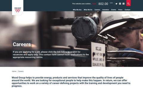 Screenshot of Jobs Page woodgroup.com - Careers - Wood Group - captured Nov. 22, 2016