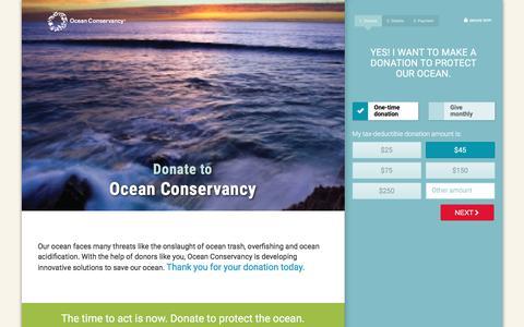 Screenshot of Landing Page oceanconservancy.org - Ocean Conservancy - captured May 11, 2017