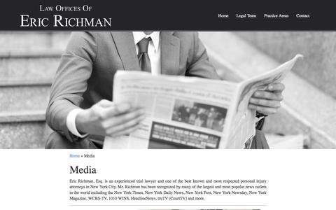 Screenshot of Press Page richman-law.com - Media - The Law Offices of Eric Richman - captured June 20, 2016
