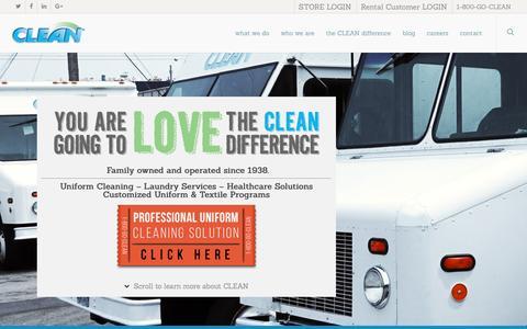 Screenshot of Home Page cleanuniform.com - Uniform Company,Industrial Laundry Program,Healthcare,Work Uniforms - captured Nov. 6, 2016