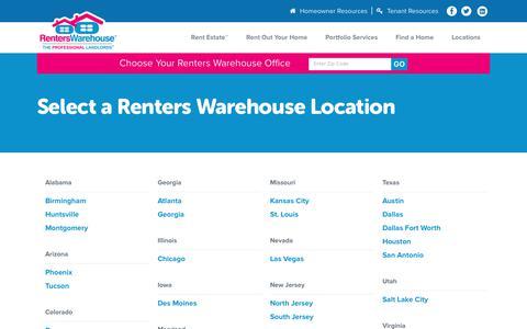 Screenshot of Locations Page renterswarehouse.com - All Office Locations - Renters Warehouse - captured Nov. 17, 2017