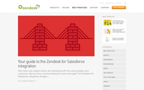 Screenshot of Blog zendesk.com - Zengage – Customer Support Articles – Zendesk.com - captured Sept. 12, 2014