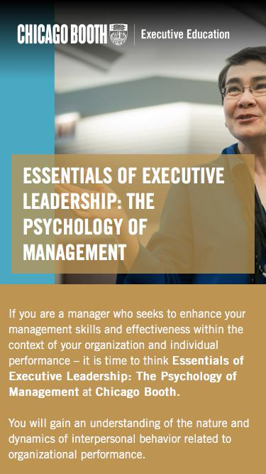Executive Education at Chicago Booth | Psychology of Management