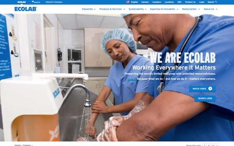 Screenshot of Jobs Page ecolab.com - Careers | Ecolab - captured Sept. 30, 2014