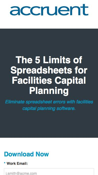 The 5 Limits of Spreadsheets for Facilities Capital Planning | Accruent