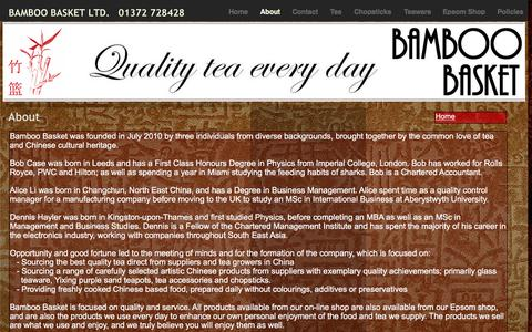 Screenshot of About Page bamboo-basket.co.uk - About - Bamboo Basket Ltd. - captured May 14, 2016