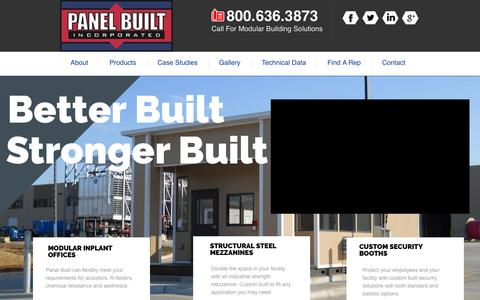 Screenshot of Home Page panelbuilt.com - Panel Built | Panel Built Incorporated - captured Oct. 19, 2016