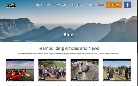 Screenshot of Blog scottsteambuilding.co.za - Leadership Articles and News | Scott's Teambuilding Adventures - captured Sept. 20, 2018