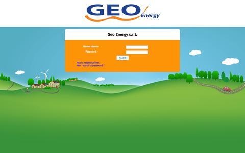 Screenshot of Login Page geo-energy.biz - Portale clienti - Geo Energy - captured Oct. 1, 2014