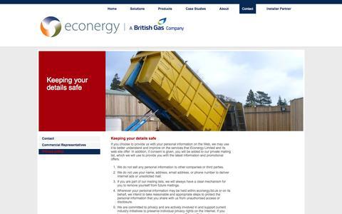 Screenshot of Privacy Page econergy.ltd.uk - Contact Us | Econergy | Renewable Energy - - captured Oct. 1, 2014