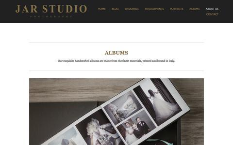Screenshot of Products Page jarstudio.com - Products | Albums | Design Services — Orlando FL Wedding Portrait and Headshot Photographer JAR STUDIO - captured Oct. 3, 2017