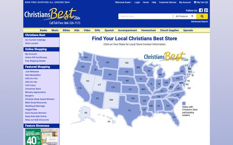 Screenshot of Contact Page Maps & Directions Page christiansbest.com - Christians Best - locatorlocator - christiansbest.com - captured Nov. 1, 2018
