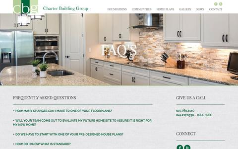 Screenshot of FAQ Page charterbuildinggroup.com - Frequently Asked Questions - Charter Building Group - captured July 17, 2018