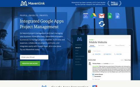 Screenshot of Landing Page mavenlink.com - Google Apps Project Management | Mavenlink - captured Dec. 16, 2015