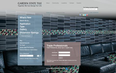 Screenshot of Login Page gstile.com - My Portfolio - Login - Garden State Tile - captured Jan. 25, 2016