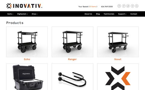 Screenshot of Products Page inovativcarts.com - Products | INOVATIV - captured Dec. 20, 2015
