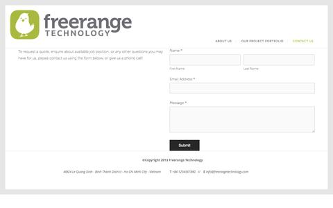 Screenshot of Contact Page freerangetechnology.com - Contact Us — Free Range Technology - captured Sept. 30, 2014