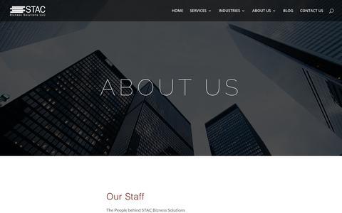 Screenshot of About Page stacbiz.com - About Us | STAC Bizness - captured Jan. 17, 2018