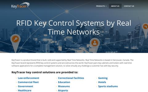 Screenshot of About Page keytracer.com - About KeyTracer - a Real Time Networks product - captured Nov. 15, 2018