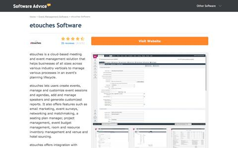 etouches Software - 2018 Reviews, Pricing & Demo