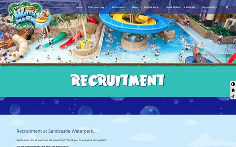 Screenshot of Jobs Page sandcastle-waterpark.co.uk - Recruitment - - captured May 27, 2017