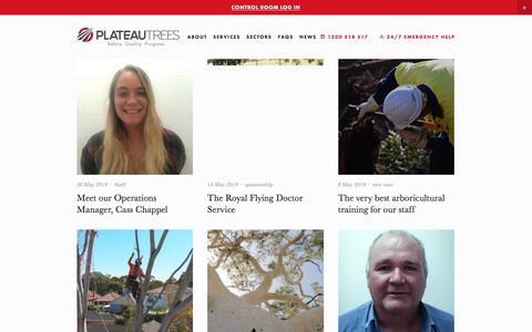 Screenshot of Press Page plateautrees.com.au - News — PLATEAU TREES - captured July 9, 2019