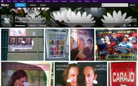 Screenshot of Flickr Page flickr.com - Flickr: Proyecto Burbuja's Photostream - captured Oct. 23, 2014
