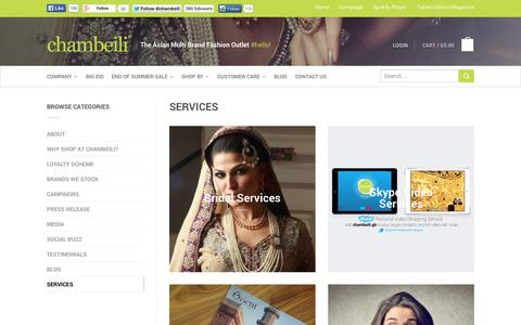 Screenshot of Services Page chambeili.com - Services | chambeili® - captured Sept. 30, 2014