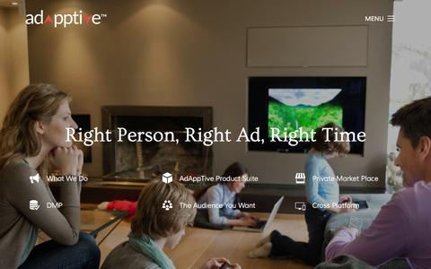 Screenshot of Home Page redfoxmedia.co - Adapptive | Right Person, Right Ad, Right Time - captured Aug. 13, 2015