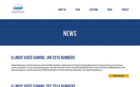 Screenshot of Press Page gemgaming.com - News - captured Sept. 24, 2016