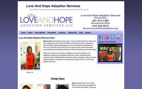 Screenshot of Team Page loveandhopeadoptions.org - Love and Hope Adoptions Team - captured Oct. 3, 2014