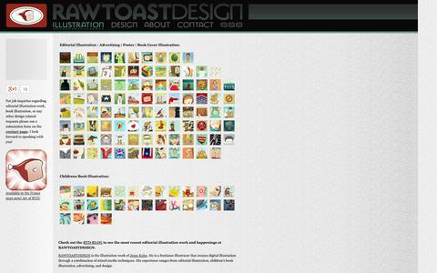 Screenshot of Home Page rawtoastdesign.com - freelance illustrator | editorial illustration | book illustrator | RAWTOASTDESIGN - captured Sept. 30, 2014