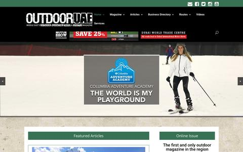 Screenshot of Home Page outdooruae.com - Outdoor activities in dubai & UAE | Adventure Travel | OutdoorUAE - captured Nov. 12, 2017