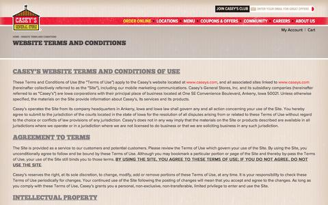 Website Terms and Conditions | Casey's General Store