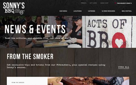 Screenshot of Press Page sonnysbbq.com - News & Events | Sonny's BBQ - captured June 30, 2017