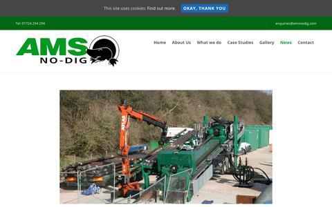 Screenshot of Press Page amsnodig.com - News - AMS No-Dig Ltd - captured Oct. 7, 2017