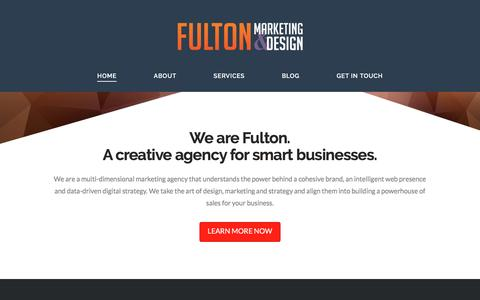 Screenshot of Home Page fulton-marketing.com - Home - Fulton Marketing - captured March 1, 2016