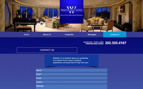 Screenshot of Contact Page winstonre.com - Contact Us | Winston Real Estate - captured Oct. 20, 2018